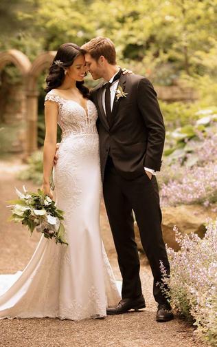 Sheath wedding dress- 100D2849
