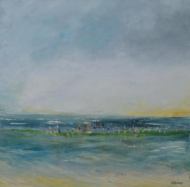 Cabourg Huile sur toile 50 x 50 cm
