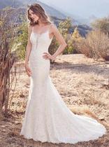 Lace low back wedding dress