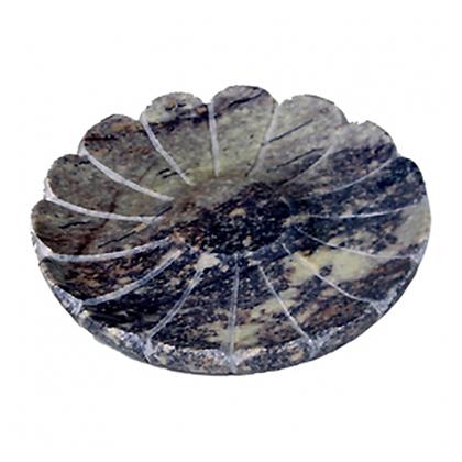 Porte savon Agra rond en pierre à savon