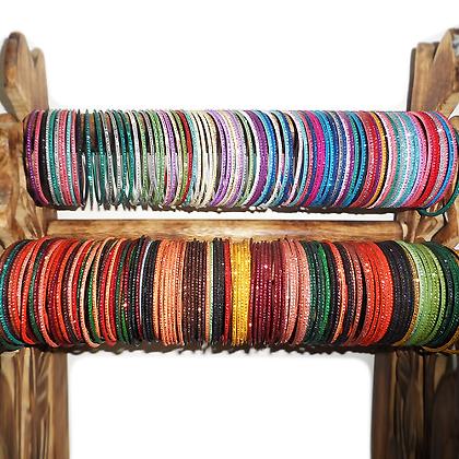 Bracelets bangles couleur (x15)
