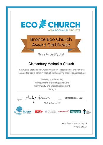 Glastonbury Methodist Church - Eco Church Award Certificate Bronze.png