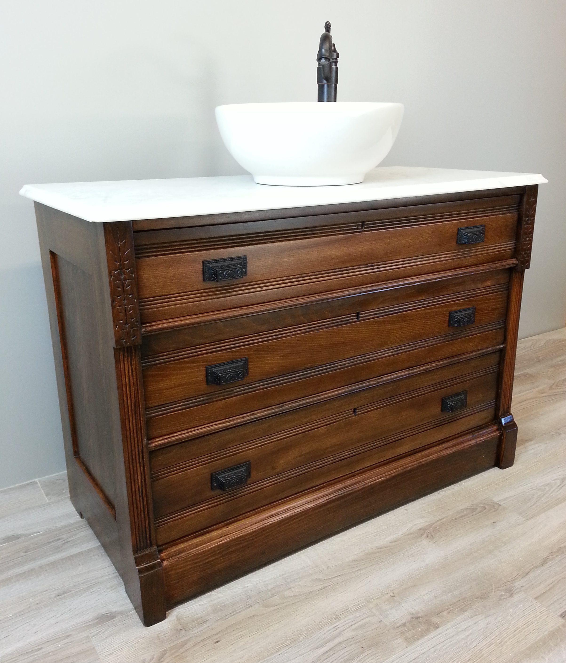 Antique Vessel Sink Vanity