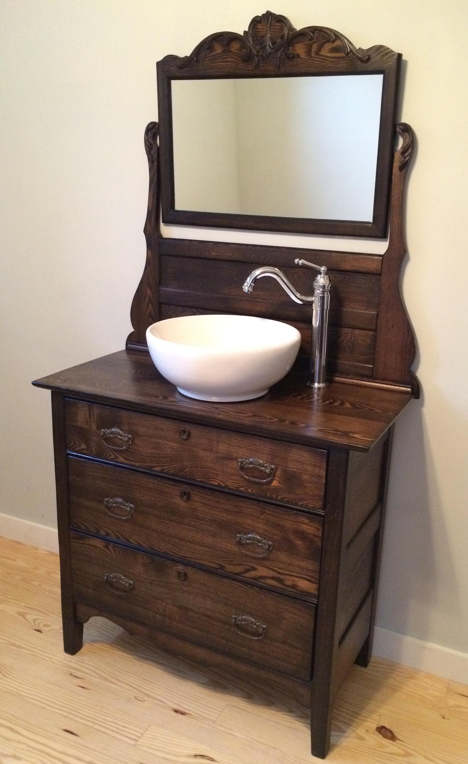Solid oak dresser conversion