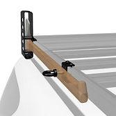 front runner roof rack mounted axe brack