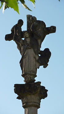 Cruceiro_detalle2_Igrexa_Santa_Mariña,