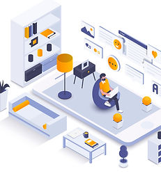 Flat color Modern Isometric Illustration