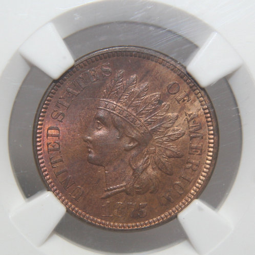 1875 Indian Head One Cent NGC MS63BN