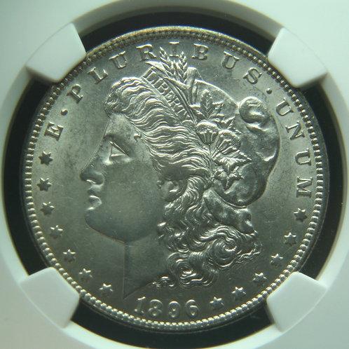 1896-O Morgan Silver Dollar NGC AU55