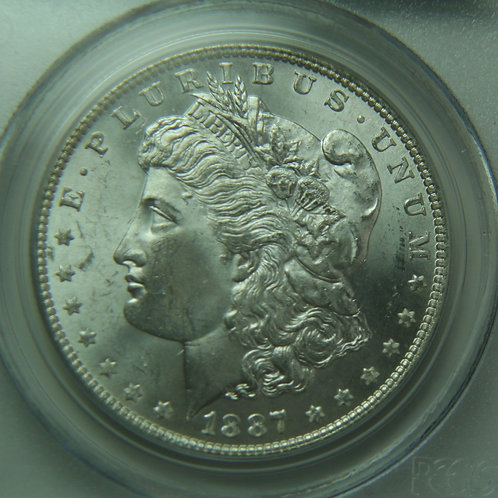1887 Morgan Silver Dollar PCGS MS64