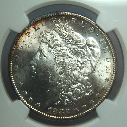 1882-S Morgan Silver Dollar NGC MS64