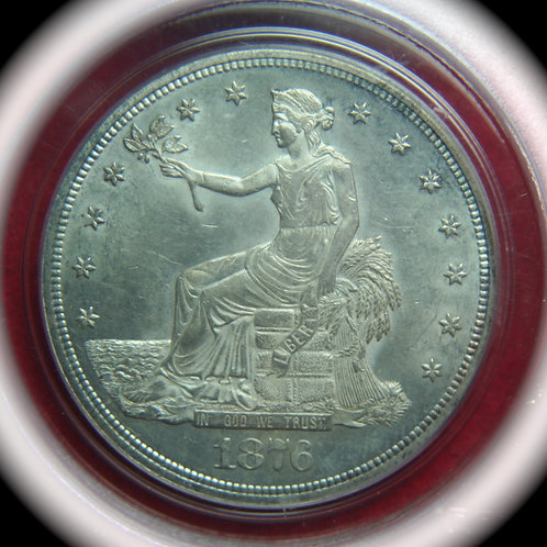 1876 Trade Silver Dollar PCGS MS62