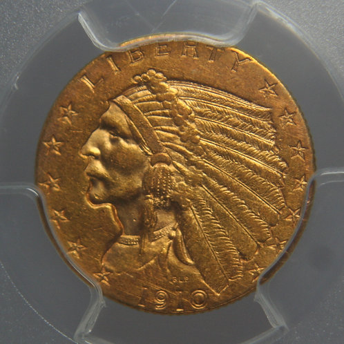 1910 $2.50 Quarter Gold Eagle PCGS AU55