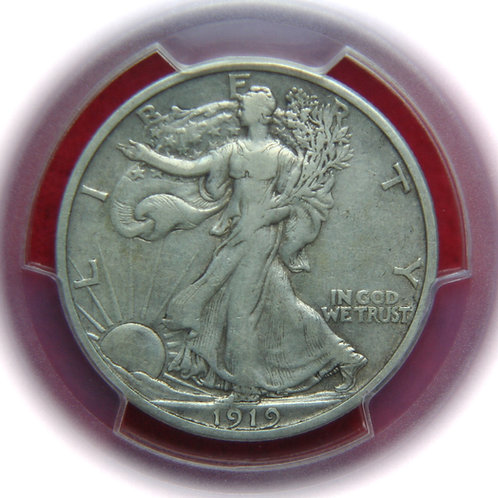 1919-S Liberty Walking Half Dollar PCGS VF35