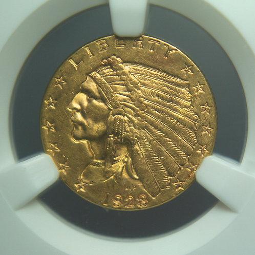 1928 $2.50 Quarter Gold Eagle NGC MS63