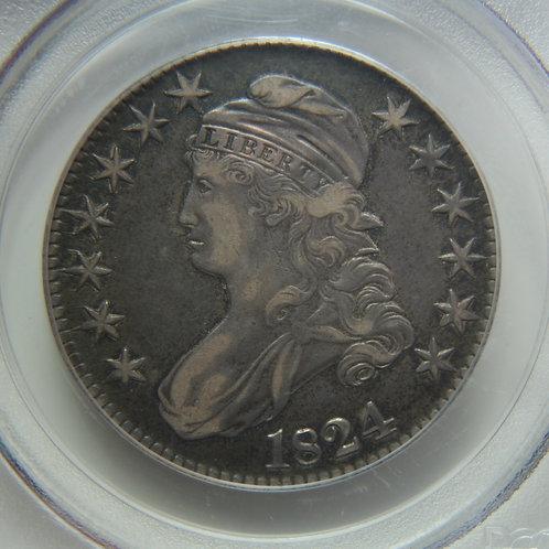 1824 Capped Bust Half Dollar PCGS XF40