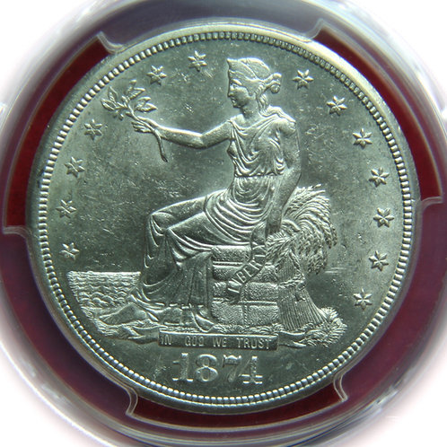 1874-S Trade Silver Dollar PCGS MS61