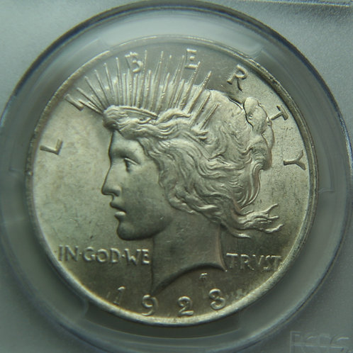 1923 Peace Silver Dollar PCGS MS62