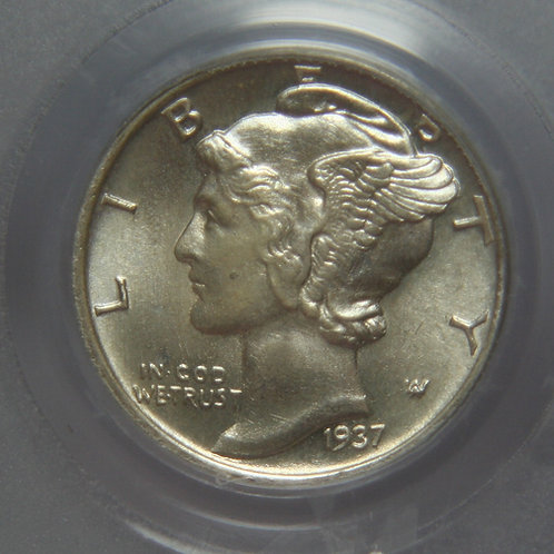 1937-S Mercury Dime PCGS MS66FB