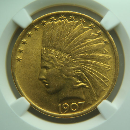 1907 Indian Gold Eagle NGC AU58 & CAC