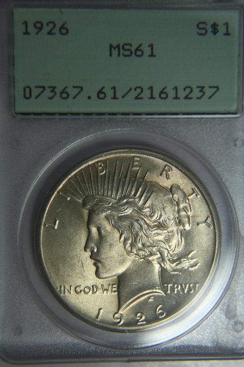 1926 Peace Silver Dollar - {CGS MS61