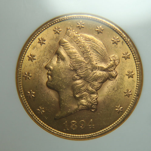 1894 $20 Double Gold Eagle NGC MS61