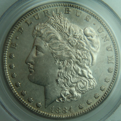 1884-S Morgan Silver Dollar PCGS AU50