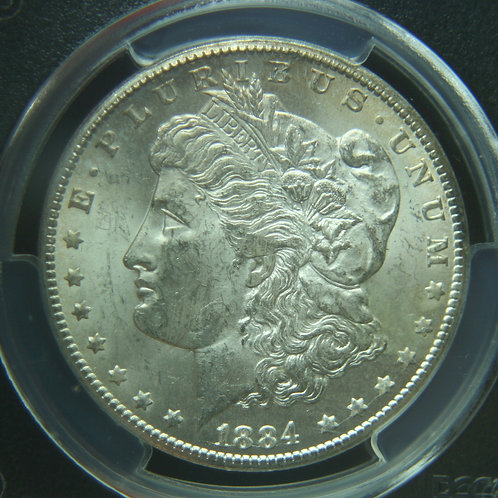 1884-CC Morgan Silver Dollar PCGS MS62