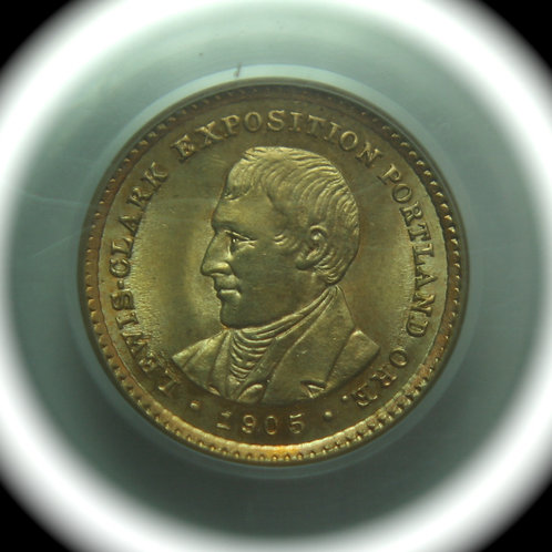 1905 Lewis & Clark Gold Dollar PCGS MS64 & CAC Approved