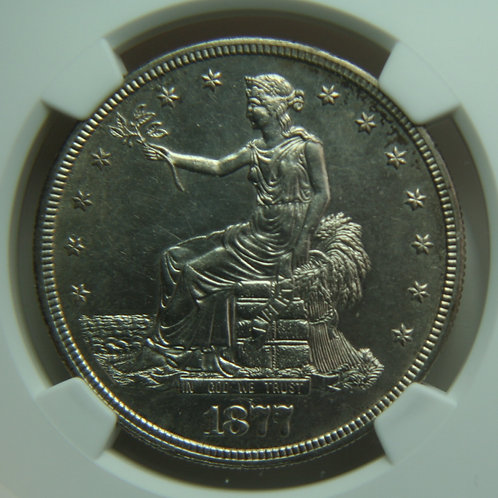 1877-S Trade Silver Dollar NGC AU58