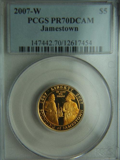 2007-W Jamestown $5 Commemorative Proof PCGS PR70DCAM