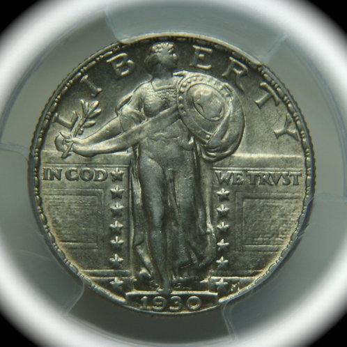 1930 Standing Liberty Quarter PCGS AU58