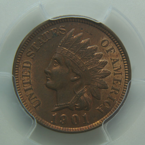 1901 Indian Head One Cent PCGS MS63RB