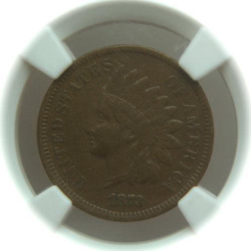 1873 Open 3 Indian Head One Cent NGC VF30 BN