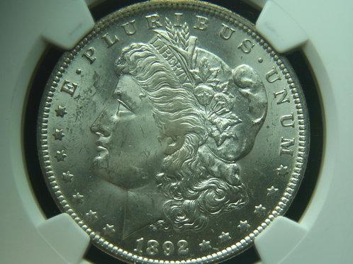 1892-O Morgan Silver Dollar NGC MS62