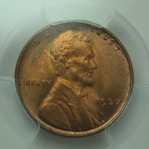 1937 Lincoln One Cent PCGS MS66 Red