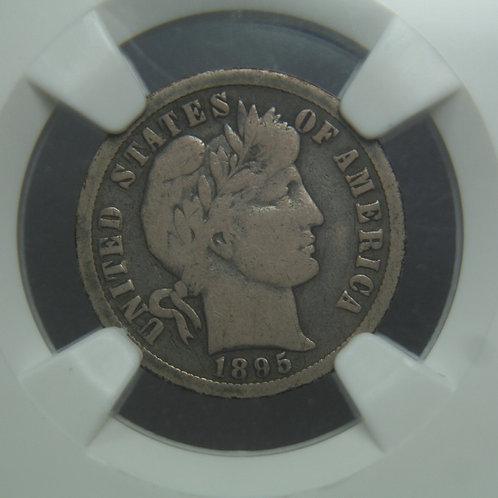 1895-O Barber Head Silver Dime NGC VG8