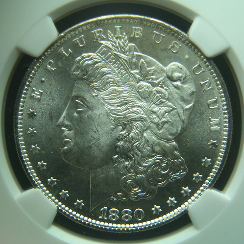 1880-S Morgan Silver Dollar NGC MS66