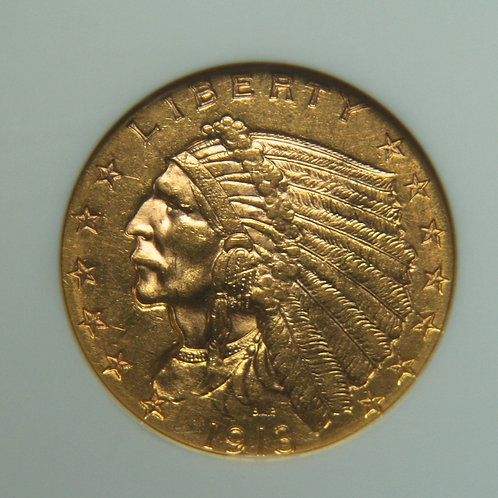 1913 $2.50 Quarter Gold Eagle NGC MS62