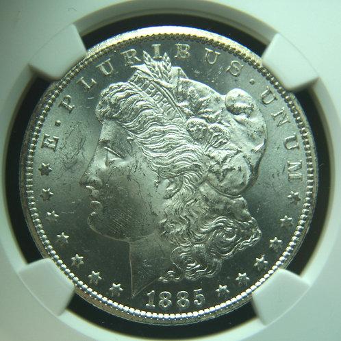 1885-CC Morgan Silver Dollar NGC MS64