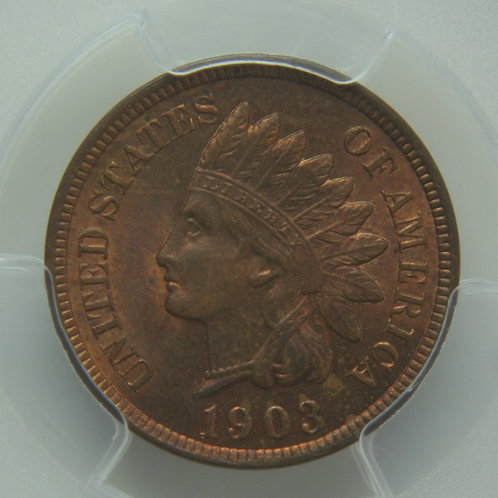 1903 Indian Head One Cent PCGS MS64RB