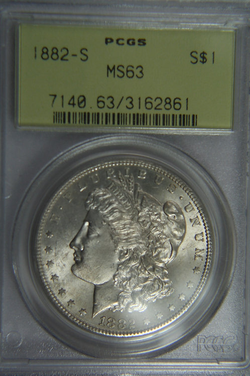 1882-S Morgan Silver Dollar - PCGS MS63