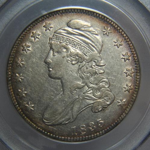 1835 Capped Bust Half Dollar PCGS AU50