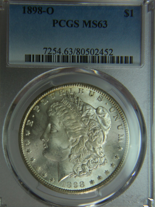 1898-O Morgan Silver Dollar PCGS MS63