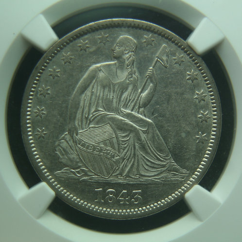 1843-O Liberty Seated Half Dollar NGC AU53