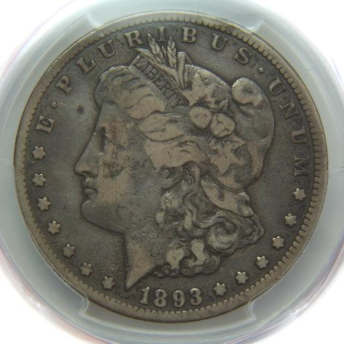 1893-CC Morgan Silver Dollar - PCGS VG10