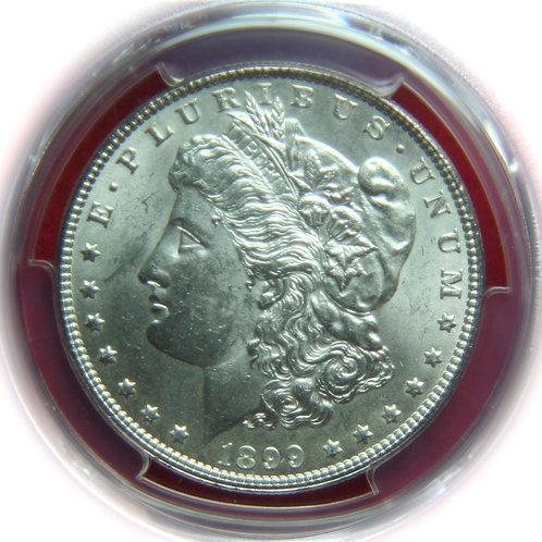 1899 Morgan Silver Dollar PCGS MS62