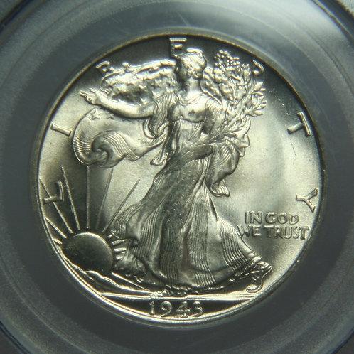 1943-S Liberty Walking Half Dollar PCGS MS65