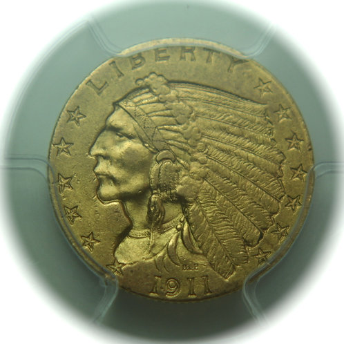 1911 $2.50 Quarter Gold Eagle PCGS AU58