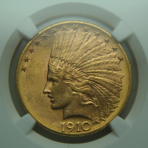 1910-D Gold Eagle NGC MS62